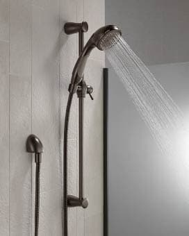 Delta 57014 3-Spray Wall-Mount Hand Held Shower With Slide Bar